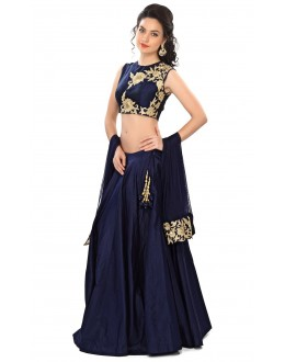 Bollywood Replica - Fancy Navy Blue Lehenga Choli - 24CL09-01