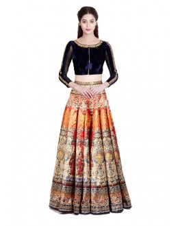 Bollywood Replica - Navratri Special Orange Lehenga Choli - 24CL09-12