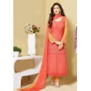 Ethnic Wear Orange Chiffon Salwar Suit  - 24CA151-2315
