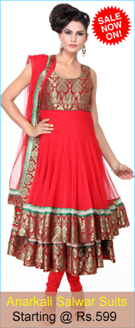 Buy Online Anarkali Salwar Suits at cheap Rates