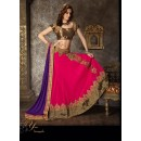 Georgette Pink Lehenga Choli Dress Material - 67623