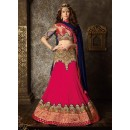 Georgette Pink Lehenga Choli Dress Material - 67627