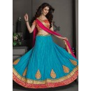 Gota Silk Blue Lehenga Choli Dress Material - 67641