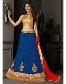 Gota Silk Blue Lehenga Choli Dress Material - 67643