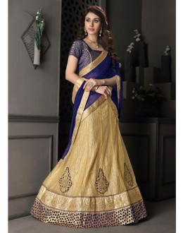 Gota Silk Brown Lehenga Choli Dress Material - 67629
