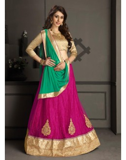 Gota Silk Pink Lehenga Choli Dress Material - 67634
