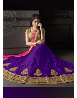 Gota Silk Purple Lehenga Choli Dress Material - 67637