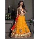 Gota Silk Yellow Lehenga Choli Dress Material - 67640