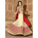 Net Cream Lehenga Choli Dress Material - 67648