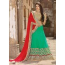Net Green Lehenga Choli Dress Material - 67649