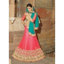 Net Pink Lehenga Choli Dress Material - 67647