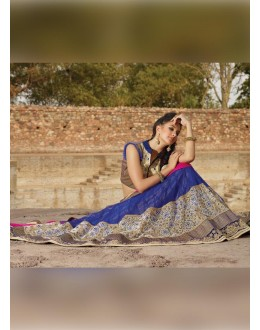 Net Royal Blue Lehenga Choli Dress Material - 67646