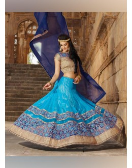 Net Sky Blue Lehenga Choli Dress Material - 67644