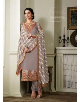 Georgette Grey Salwar Suit Dress Material - 36211