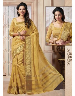 Traditional Wear Art Silk Brown Saree - 67955