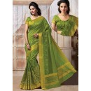 Traditional Wear Art Silk Green Saree - 67954