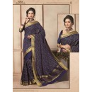 Traditional Wear Art Silk Navy Blue Saree - 67958
