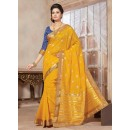 Traditional Wear Art Silk Yellow Saree - 67957