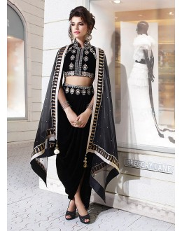 Party wear Black Net  Salwar suit -67907