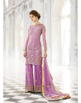 Party wear Fuchsia Georgette  Salwar suit -67897