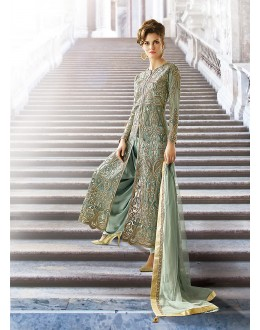 Party wear Green Net  Salwar suit -67902