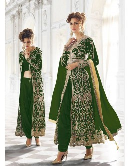 Party wear Green Net  Salwar suit -67903