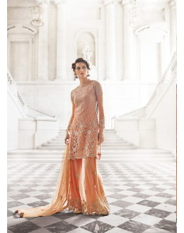 Party wear Orange georgette  Salwar suit -67895
