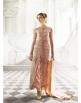 Party wear Pink Net  Salwar suit -67901