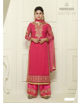 Eid Special Pink Straight Cut Palazzo Suit - 69500