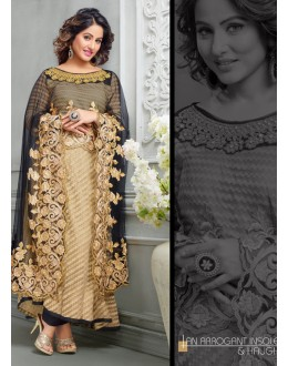 Party wear Brown Georgette Salwar suit -70169