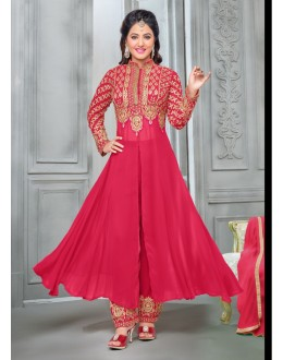 Party wear Pink Georgette Salwar suit -70166