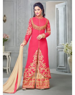 Party wear Pink Georgette Salwar suit -70172