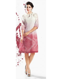 Fancy Readymade Off White Georgette Kurti - 71878