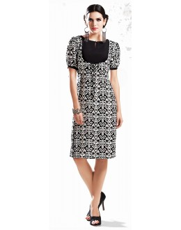 Fancy Readymade Black  Georgette Kurti - 71879