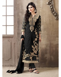 Eid Special Black Cotton Salwar Suit -  70695