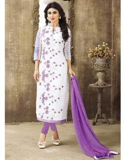 Eid Special Off White Cotton Salwar Suit -  70696