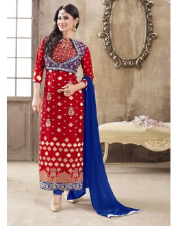 Eid Special Red Cotton Salwar Suit -  70699