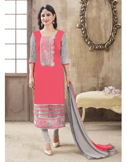 Eid Special Grey Cotton Salwar Suit -  70700