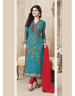 Eid Special Green Cotton Salwar Suit -  70701