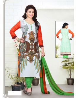 Party Wear Multicolour Cotton Salwar Suit - 70759