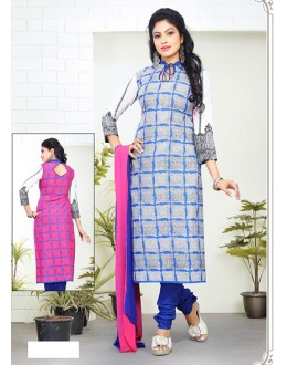 Party Wear Multicolour Cotton Salwar Suit - 70761