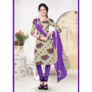 Casual Wear Multicolour Cotton Salwar Suit - 70764