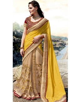 Party Wear Multicolour Net Saree  - 70882