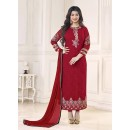 Party Wear Maroon Georgette Salwar Suit - 70992