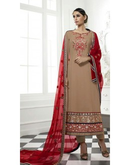 Party Wear Brown & Maroon Salwar Suit - 71220
