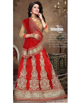 Designer Style Red & Brown Lehenga Choli - 71233