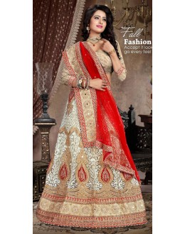 Designer Style Brown & Red Lehenga Choli - 71235