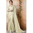 Traditional Tan Brown & Gold Georgette Saree - 71839