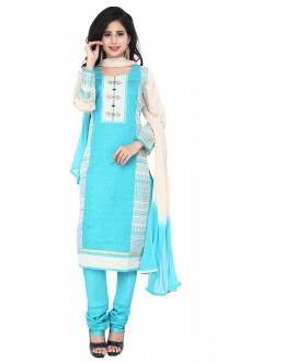 Party Wear Sky Blue Readymade Salwar Suit  -  71318
