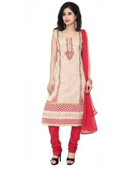 Party Wear Beige Readymade Salwar Suit  -  71322